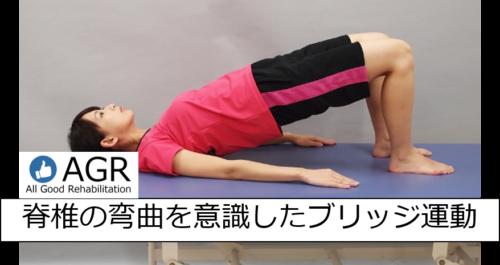 脊椎を意識したブリッジ運動